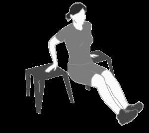 Atsispaudimai nuo kėdės